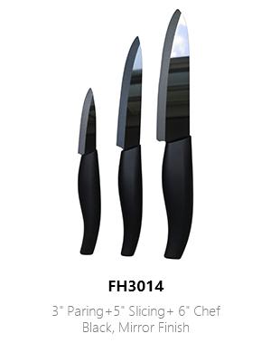 Ceramic Black Shiny Kitchen Knives